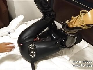 Bondage leather doll with Chastity belt part-1