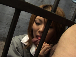 Japanese Rio Haruna is eagerly sucking dick uncensored