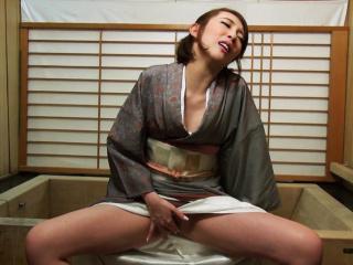 Japanese housewife Aya Kisaki is masturbating uncensored