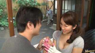 Mature and sexy as hell Mirei Kayama is a hardcore housewife