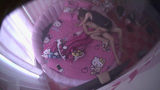 IP CAM of real chinese Young College couple