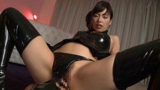 Horny Japanese slut Miyuki Yokoyama in Best fetish, latex JAV scene