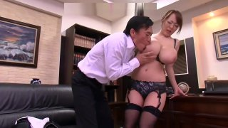 big tits for the big boss - more videos on JPornJapan.com