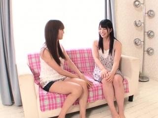Japanese lesbians scissoring together