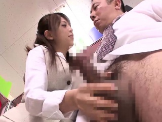 Office lady Rina Itoh licks ass and receives a facial