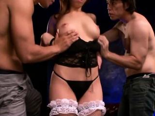 japanese slut wife threesome
