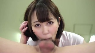 JAPANESE BEAUTIFUL GIRL FELLATIO CUM SHOT MOUTH GOKKUN