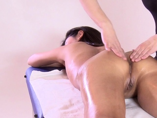 First time massage masking for hot virgin Asian