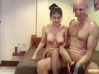 Thai Hooker With Big Fake Boobs Gets Fucked By Giant Dick