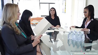the true office magic with Kira Noir, Julia Ann and Marica Hase