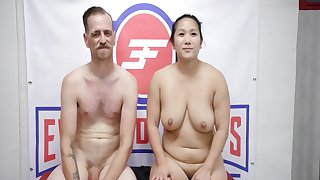 Mixed Sex Fight As Chad Diamond Wrestles Song Lee Then Fucks Her Hard - Evolv