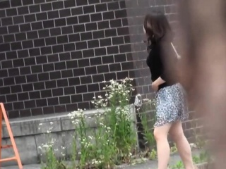 Urinating asian spied on