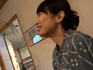 Petite asian teen with young face
