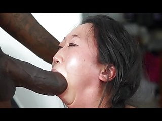 Monster BBC overwhelms her tiny mouth